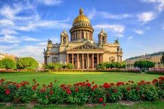Собор St Исаак, Санкт-Петербург, Россия Стоковые Фотографии RF