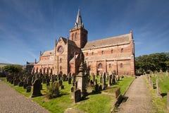 Собор St Магнуса, Kirkwall, оркнейские острова, Шотландия Стоковые Изображения
