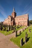 Собор St Магнуса, Kirkwall, оркнейские острова, Шотландия Стоковое фото RF