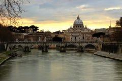 Собор St Питер в Рим, Италии Стоковое фото RF