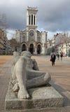 Собор St Charles Borromeo в Сент-Этьен, Франции Стоковое Фото