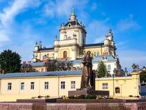 Собор St. George в Львове Стоковые Фотографии RF
