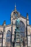 Собор St Giles на королевской миле в Эдинбурге, Шотландии Стоковое Фото