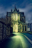 Собор St Hubert в Бельгии Стоковое Изображение