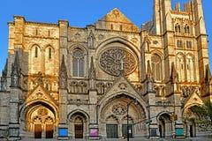 Собор St. John божественное 1892, собор епископской епархии Нью-Йорка, расположенной на бульваре 1047 Амстердама в Manhat стоковая фотография rf