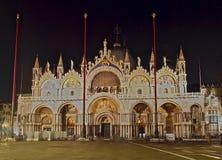 Собор St Marco в Венеции вечером стоковое изображение rf
