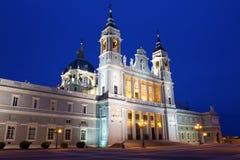 Собор St Mary королевское Ла Almudena Стоковые Изображения