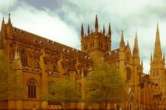 Собор St Mary, Сидней Стоковые Изображения RF