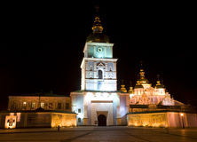 Собор St Michael в ноче Стоковое Изображение