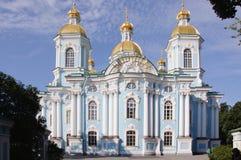 Собор St Nicholas военноморской, Санкт-Петербург, Россия Стоковые Изображения