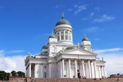 Собор St Nicholas в Хельсинки стоковое изображение rf