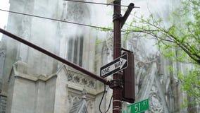 Собор St. Patrick в Нью-Йорке сток-видео