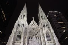 Собор St Patrick, Нью-Йорк Стоковое Изображение RF