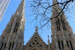 Собор St Patrick, Нью-Йорк Стоковые Фото