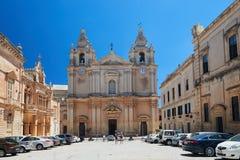 Собор St Paul в Mdina - Мальте Стоковое фото RF