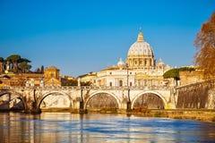 Собор St Peter в Риме Стоковое Фото