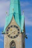 Собор St Peter в Цюрихе Стоковая Фотография