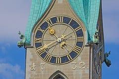 Собор St Peter в Цюрихе Стоковое Изображение