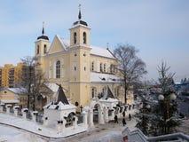 Собор St Peter и Паыля в Минск Стоковые Изображения RF