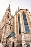 Собор St Peter и Пола, Брна, Моравии, старого фильтра Стоковое фото RF