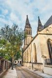 Собор St Peter и Пола, Vysehrad, Праги Стоковая Фотография
