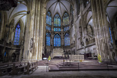 Собор St Peter Регенсбург внутрь стоковое изображение rf