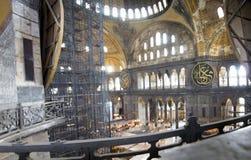 Собор St Sophia внутрь Музей в Стамбуле Стоковая Фотография