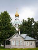 Собор St Sophia, колокольня собора St Sophia, Vologda Кремля Vologda, Россия Типы Vologda открытки Стоковое Фото
