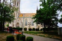 Собор St Stephan в Будапеште, Венгрии Стоковое Изображение RF