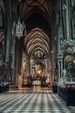 Собор St. Stephens (Stephansdom) в Вене стоковая фотография rf