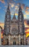 Собор St Vitus в замке Праги в Праге стоковое изображение