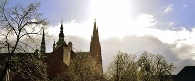 Собор St Vitus в Праге после дождя Стоковые Изображения RF