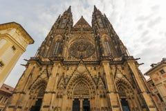 Собор St Vitus, замок Праги, Прага стоковое фото rf