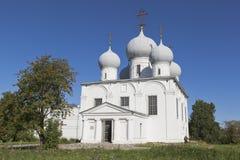 Собор Transfiguration в городе Belozersk Стоковое Изображение