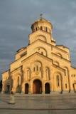 Собор Tsminda Sameba в Тбилиси Стоковые Фотографии RF