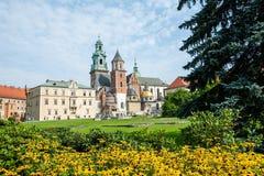 Собор Wawel & x28; Poland& x29; стоковые изображения