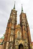 Собор Wroclaw, Wroclaw, Польша стоковое фото rf