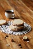 Соболь кофе - печенья Shortbread Стоковые Изображения
