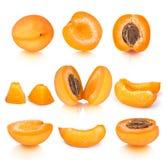 Собрание абрикоса соединяет с отражением изолированного на белом b Стоковое Изображение RF