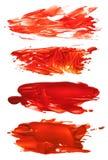 Собрание абстрактных акриловых помарок ходов щетки Стоковая Фотография RF