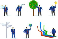 Собрание абстрактных бизнесменов логосов Стоковая Фотография