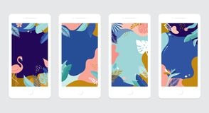 Собрание абстрактных дизайнов предпосылки - продажа лета, содержание социальных средств массовой информации выдвиженческое r бесплатная иллюстрация