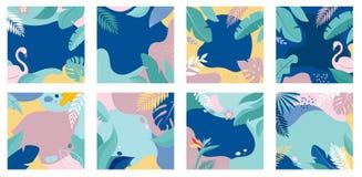 Собрание абстрактных дизайнов предпосылки - продажа лета, содержание социальных средств массовой информации выдвиженческое r иллюстрация вектора
