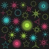 Собрание абстрактных звезд и sparkles рождества Стоковое Изображение RF