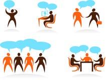 Собрание абстрактных логосов людей - 1 стоковое изображение rf