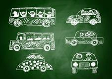 собрание автомобилей Стоковое Изображение RF