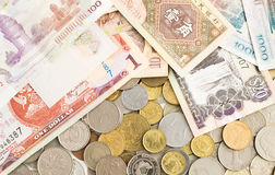 Собрание банкнот со всего мира стоковые фото