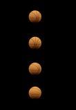 Собрание баскетболов изолированное на черноте Стоковая Фотография