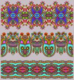 Собрание безшовных орнаментальных флористических нашивок Стоковые Фото
