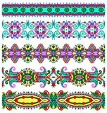Собрание безшовных орнаментальных флористических нашивок Стоковое Изображение